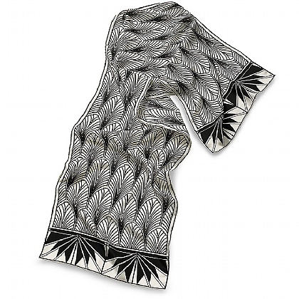 Style Moderne Crepe De Chine Scarf