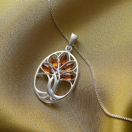 Museum Selection Amber Tree of Life Pendant