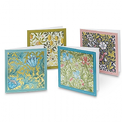 20 Luxury-finish Morris Pattern Cards