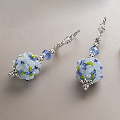 Museum Selection Periwinkle Glass Earrings