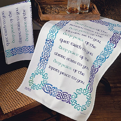 Pair of Celtic Blessing Tea Towels