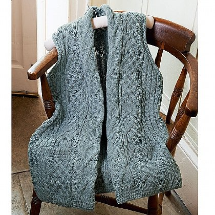 Cable Knit Wool Gilet