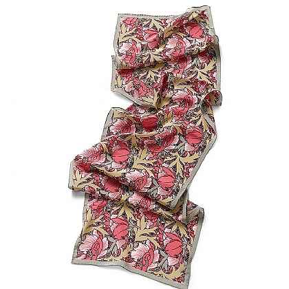 Butterfield Poppies Silk Scarf