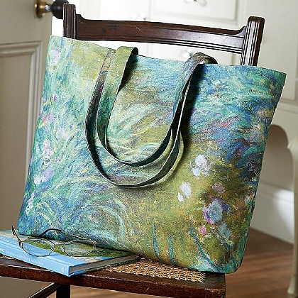 Monet Iris Tote Bag