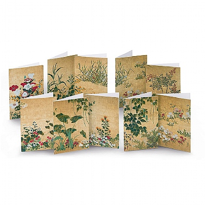 30 Japanese Painted Panel Cards