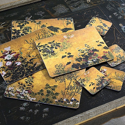 Set of 4 Edo Screen Placemats & Coasters