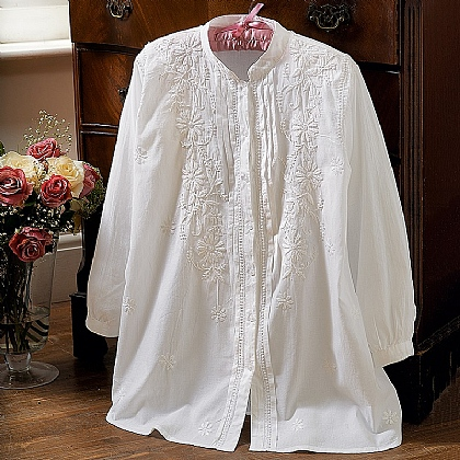 Bellis Perennis Embroidered Blouse