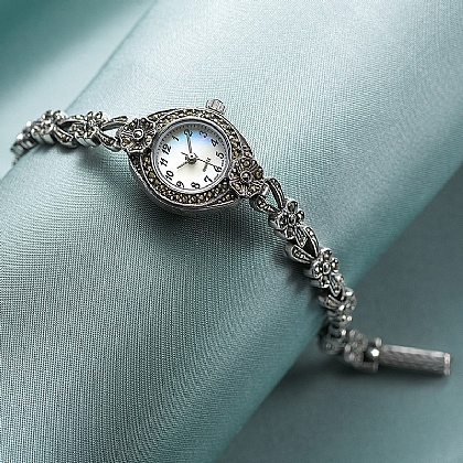 Museum Selection Marcasite & Silver Watch