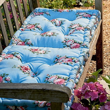 Floral Folding Bench Cushion