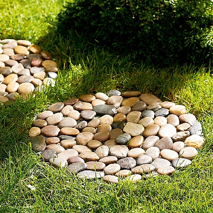 Pair Pebble Stepping Stones