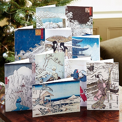 Winter Woodblock Cards