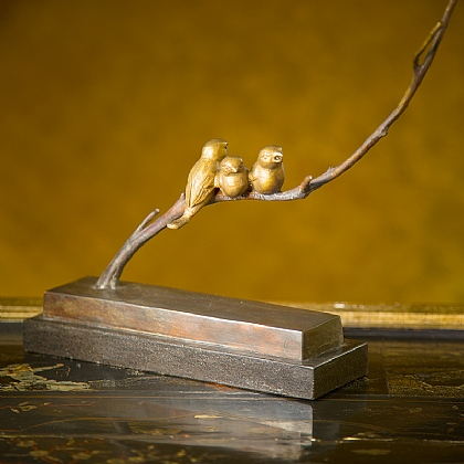 Birds on Branch Bronze