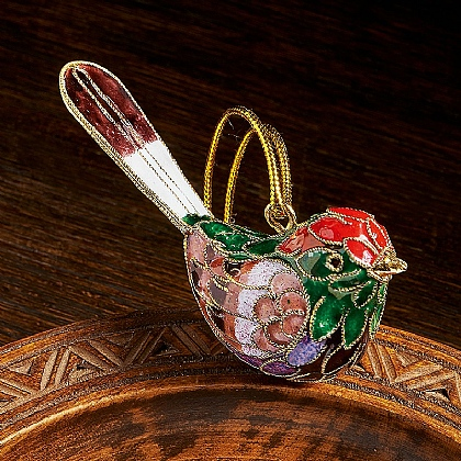 Cloisonne Bird Ornament
