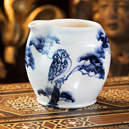 Hand-painted Owl Jug