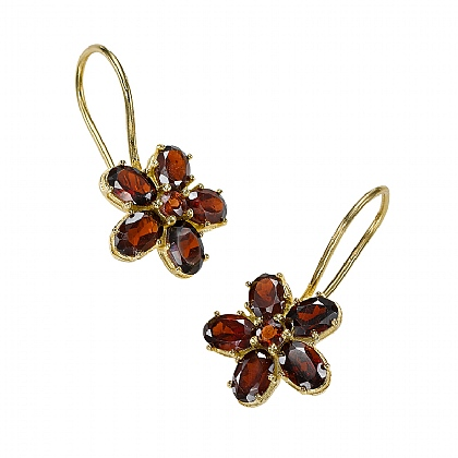 Tudor Garnet Earrings