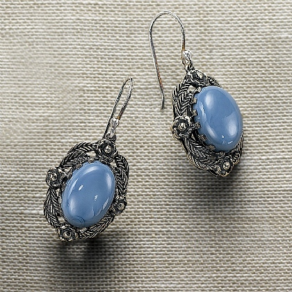 Sibyl Silver & Opal Earrings
