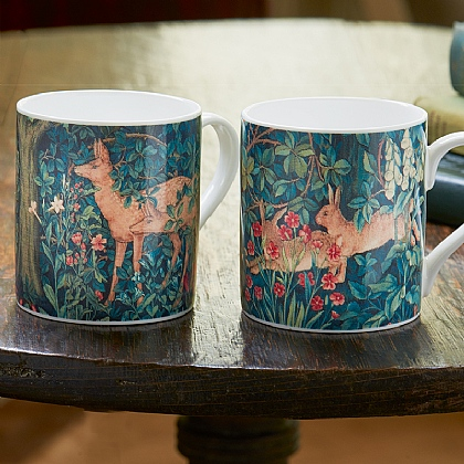 Pair of Dearle Tapestry Mugs
