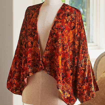 Klimt Abstract Printed Velvet Jacket