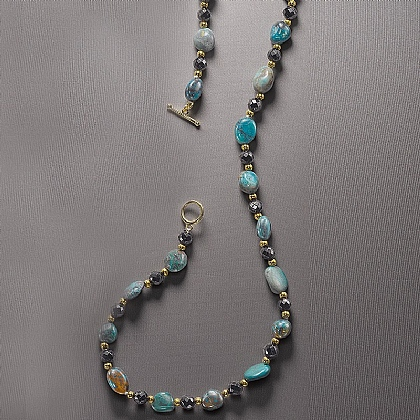 Chrysocolla & Onyx Necklace