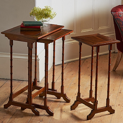 Clevedon Nest of Mahogany Tables