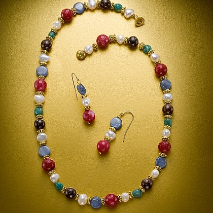 Romanov Gem Necklace & Earrings