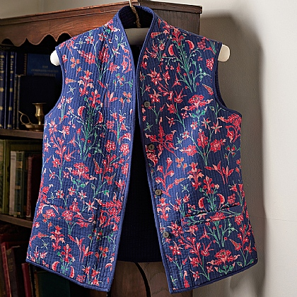 Floriated Reversible Cotton Waistcoat