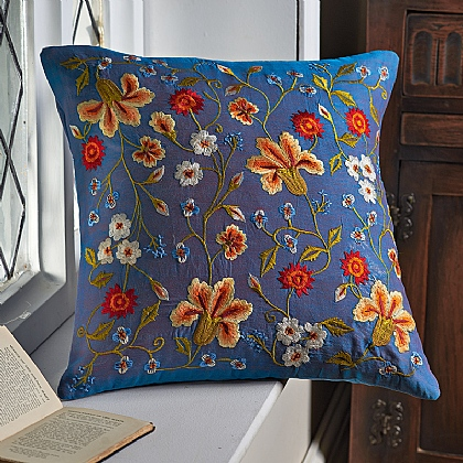 Book of Hours Embroidered Cushion