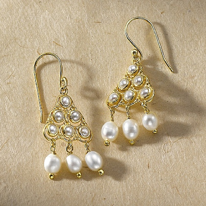 Byzantine Pearl Earrings