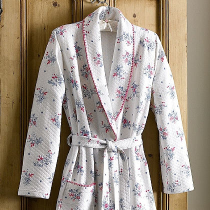 Bouquet Floral Quilted Robe
