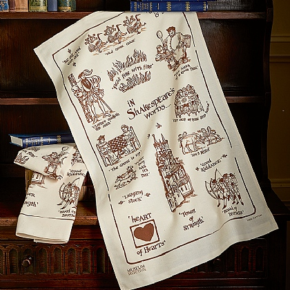 Pair of Shakespeares Words Cotton Tea Towels