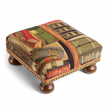 Library Tapestry Footstool