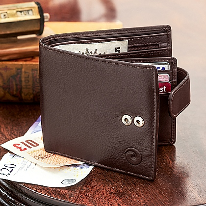 RFID Protection Black Leather Wallet