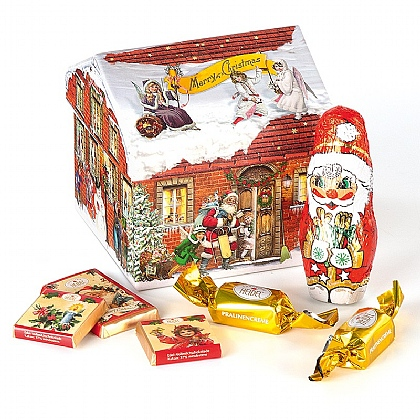 Chocolate-filled Christmas Cottage