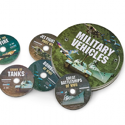 Military Vehicles 5-DVD Tin