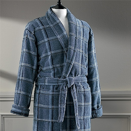 Cotton Check Robe
