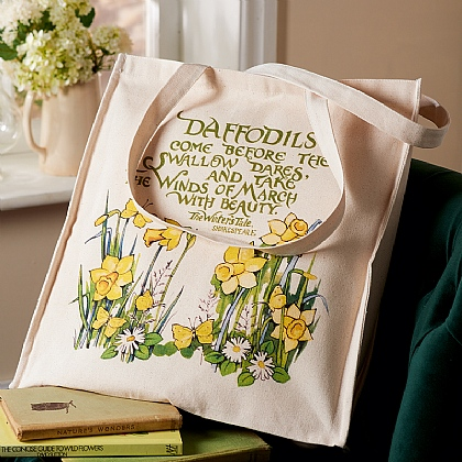 Shakespeare Daffodils Tote Bag