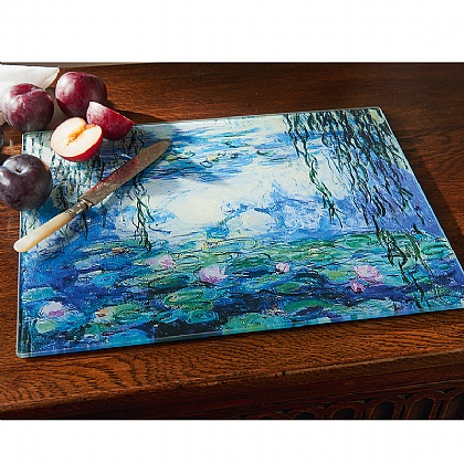 Water Lily Glass Chopping Board