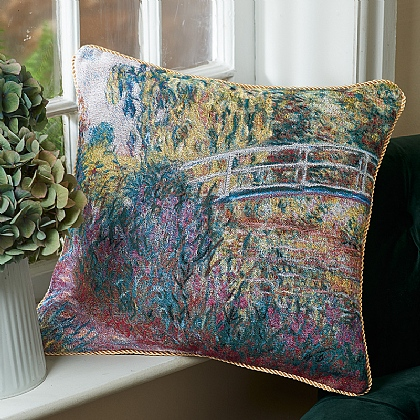 Bridge over a Pond Tapestry Cushion