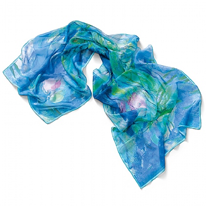 Waterlilies Silk Scarf