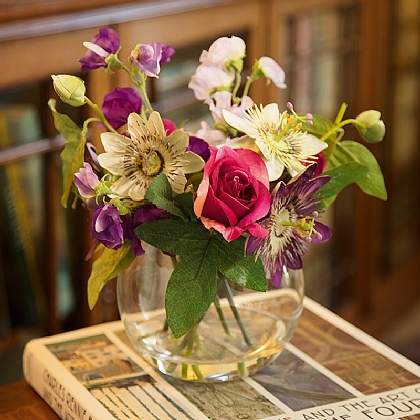 Passionflower & Sweetpea Arrangment