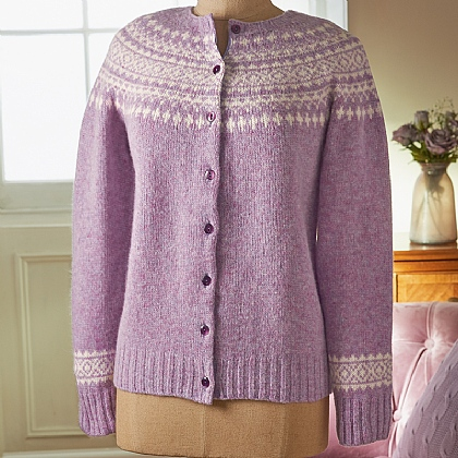 Heather Fairisle Wool Cardigan