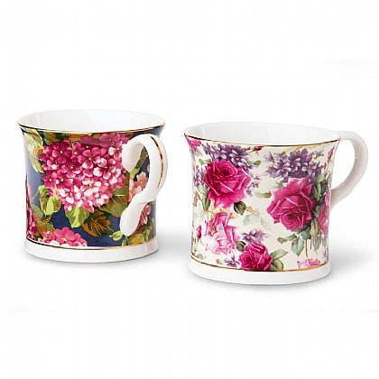 Set of 2 Floral Mugs