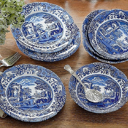 Blue Italian Breakfast Set