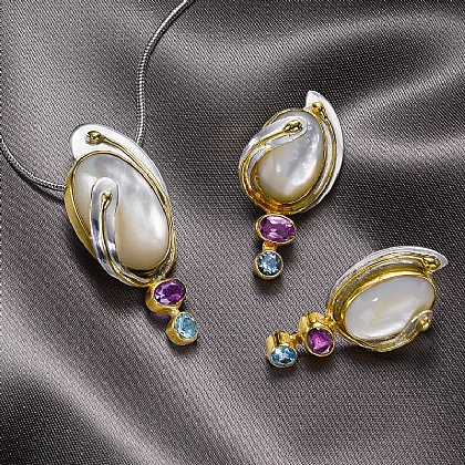 Margaret Macdonald Pendant & Earrings