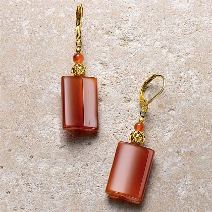 Imperial Carnelian Earrings