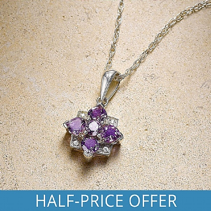 Visconti Amethyst & Diamond Pendant