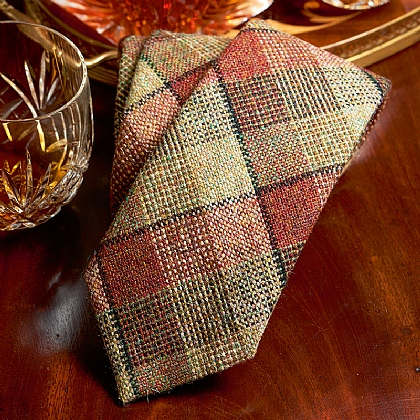 Islay Checked Wool Tie
