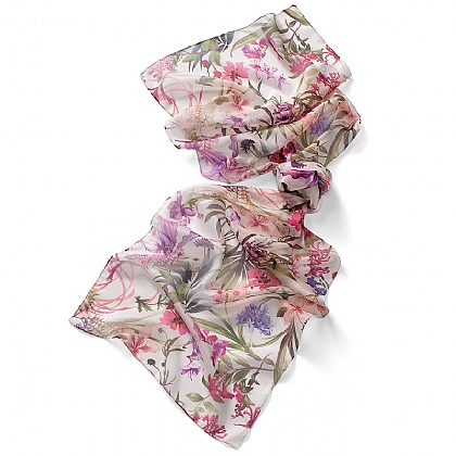 Lily & Agapanthus Scarf