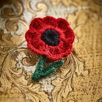 Crochet Poppy Brooch Brooches Rings Museum Selection