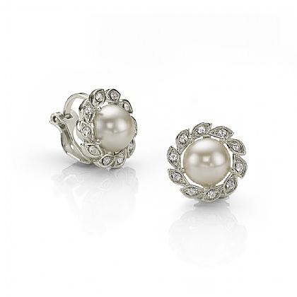 557a1a4eb Silver Earrings | Vintage Earrings | Pearl Earrings | Art Deco ...